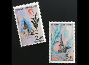 Türkei Turkey 2019 Dienstmarke Michel Nr. 401-02 Marmorierungen Ebru