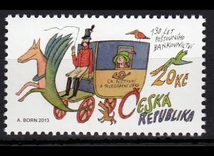 Tschechische Republik 2013, Michel Nr. 770 ** postfr., 130 Jahre Postsparkasse