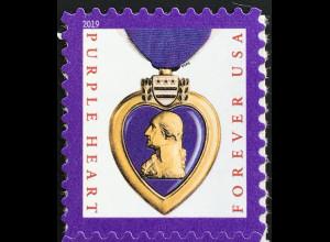 USA Amerika 2019 Michel Nr. 5656 Freimarke Purple Heart Verwundetenabzeichen