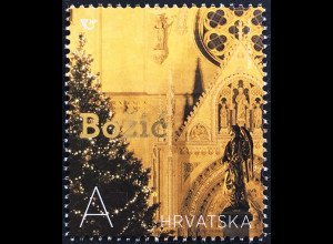 Kroatien Croatia 2019 Neuheit Weihnachten Christmas Natale mit Goldfolie