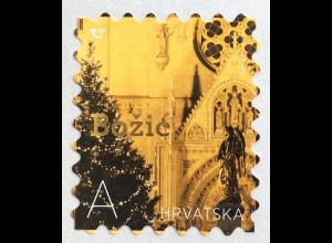 Kroatien Croatia 2019 Neuheit Weihnachten Christmas Natale mit Goldfolie skl