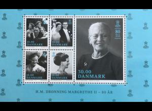 Dänemark 2019 Neuheit Königin Margrethe 80. Geburtstag