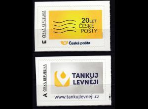 Tschechische Republik 2013, Mi- Nr.780-81 ** postfr. Querformat-personalisierbar