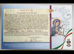 Italien Italy 2019 Block 84 Jungfrau Fidelis Patronin der Carabinieritruppen