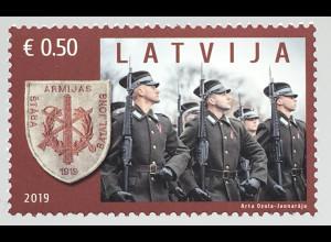 Lettland Latvia 2019 Neuheit 100 Jahre Stabbatailons der nationalen Streitkräfte