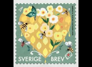 Schweden Sverige 2019 Neuheit Grußmarken Herzmotiv