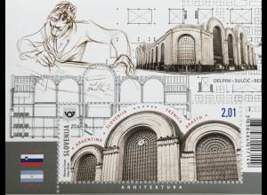 Slowenien Slovenia 2019 Block 121 Viktor Sulčič Gemeinschaft mit Argentinien