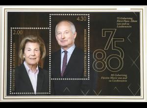 Liechtenstein 2020 Block 35 Fürstliche Geburtstage Hans-Adam und Marie