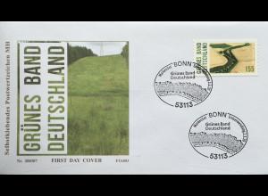 Bund BRD Ersttagsbrief FDC 2. März 2020 Nr. 3533 Naturschutzprojekt Grünes Band