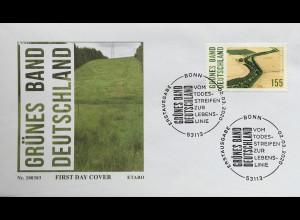 Bund BRD Ersttagsbrief FDC 2. März 2020 Nr. 3529 Naturschutzprojekt Grünes Band