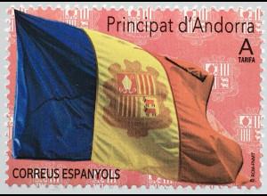 Andorra spanisch 2020 Nr. 490 Freimarke: Flagge von Andorra
