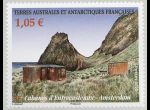 Franz. Antarktis TAAF 2020 Nr. 1059 Forschungsstation am Pointe d'Entrecasteaux