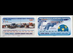 Franz. Antarktis TAAF 2020 Nr. 1064-65 Forschungsstation Robert Guillard