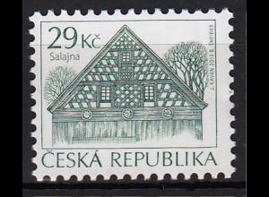 Tschechische Republik 2013, Michel Nr. 787 ** postfr. Freimarke Volksarchitektur