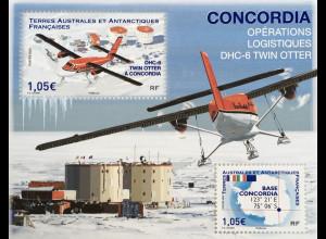 Franz. Antarktis TAAF 2020 Block 79 Forschungsstation Dome Concordia seit 2005