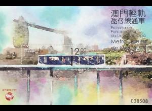 China Macau Macao 2019 Neuheit Stadtbahn Macao Taipa Linie Transport Verkehr