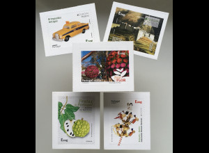 Madeira 2020 Michel Nr. 397-401 Neudrucke Freimarken Tourismus aus Faltblatt