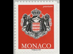 Monako Monaco 2020 Neuheiten Freimarken Königliches Wappen