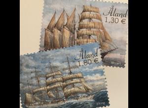 Aland 2020 Nr. 482-83 Segelschiffe Schiffsverkehr Viermastbark Segelschulschiff