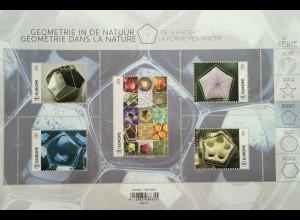 Belgien 2020 Block 247 Geometrie in der Natur das Pentagon fünfzackiger Stern