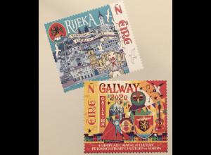 Irland 2020 Nr. 2345-46 Galway und Rijeka – Kulturhauptstädte Europas 2020