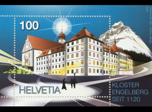 Schweiz 2020 Block 74 900 Jahre Kloster Engelberg