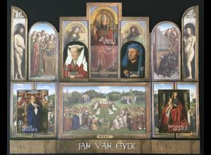 Belgien 2020 Block 248 Jan van Eyck Altarbild Gemälde Flügelaltar St.-Bavo Gent