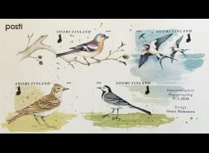 Finnland Finland 2020 Block 101 Vögel Ornithologie Bachstelze Sperling Schwalbe