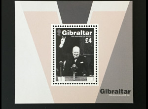 Gibraltar 2019 Neuheit 75 J. VE-Day Victory in Europe Day Ende 2 Weltkrieg Block