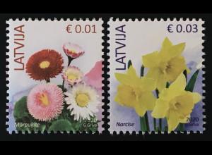 Lettland Latvia 2019 Neuheit Freimarkenserie Blumen