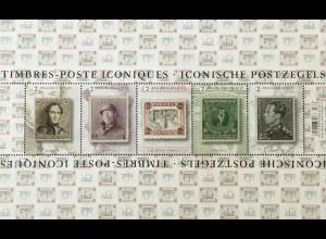 Belgien 2020 Block 246 Bekannte belgische Briefmarken König Leopold König Albert