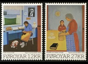 Dänemark Färöer 2020 Nr. 974-75 Färöische Kunst: Sigrun Gunnarsdóttir Malerin