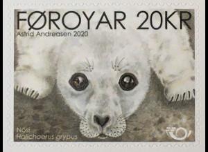 Dänemark Färöer 2020 Nr. 976 NORDEN: Robbenbaby Tierkinder Fauna Raubtier