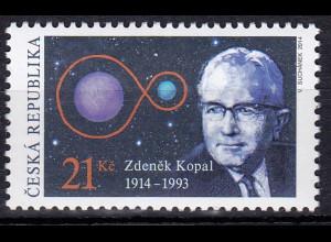 Tschechische Republik 2014, Michel Nr. 801, 100. Geburtstag von Zdenĕk Kopal