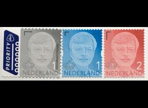 Niederlande 2020 Neuheit Freimarken Willem Blau Grau Rot