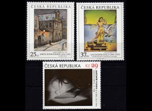 Tschechische Republik 2014, Michel Nr. 822-24, Kunstwerke, Satz mit 3 Werten