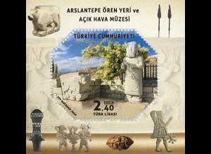 Türkei Turkey 2019 Block 194 Grabstätte u. Freilichtmuseum Arslantepe Geschichte