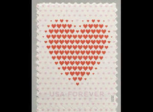 USA Amerika 2020 Nr 5669 Grußmarke Herzabbildung LIebesgrüße Valentinstag