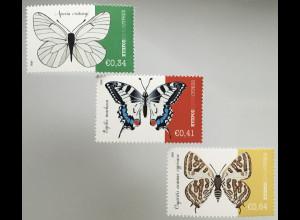 Zypern griechisch Cyprus 2020 Michel Nr. 1424-26 Einheimische Schmetterlinge