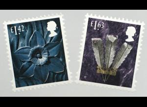 Großbritannien 2020 Regionalmarke Wales Neuheiten Landeswahrzeichen
