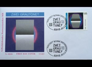Bund BRD Ersttagsbrief FDC 2. April 2020 Nr. 3540 Optische Täuschungen Grautöne