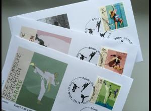Bund BRD Ersttagsbrief FDC 7. Mai 2020 Nr. 3542-44 Sporthilfe Olymp. Sportarten