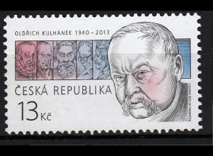 Tschechische Republik 2015, Michel Nr. 829, Graphiker, Briefmarkengestaltung