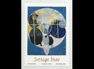 Schweden Sverige 2020 Nr. 3329 Hilma af Klint Künstlerin abstrakte Malerei Rolle