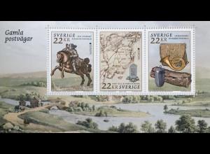 Schweden Sverige 2020 Block 60 Europaausgabe historische Postwege Postreiter