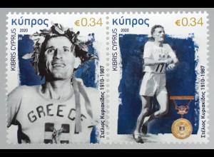 Zypern griechisch Cyprus 2020 Nr. 1433-34 Marathonläufer Sport Wettkampf Läufer