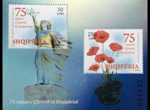 Albanien 2019 Neuheit 75 Befreiung Albaniens Freiheit Revolution