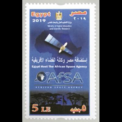 Ägypten Egypt 2019 Nr. 2634 Afrikanischen Weltraumorganisation (AfSA)