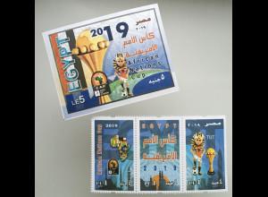 Ägypten Egypt 2019 Nr. 2625-27 + Block 126 Fußball-Afrikameisterschaft Ägypten