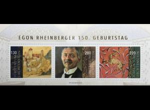 Liechtenstein 2020 Block 36 150. Geburtstag von Egon Rheinberger Architekten
